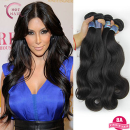 Discount maylasian weft hair - Wholesale-Malaysian Virgin Hair 3 Bundle Really Malaysian Body Wave Maylasian Hair 8a Unprocessed Virgin Hair Double Wef