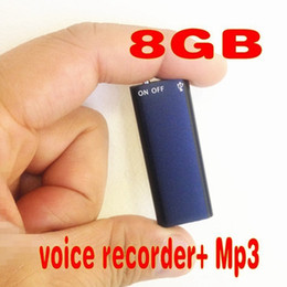 $enCountryForm.capitalKeyWord Australia - Ultra-small 4GB 8GB 2 in 1 Mini Digital Audio Voice Recorder support 13 Hours voice Recording Usb Disk voice recorder with MP3 player