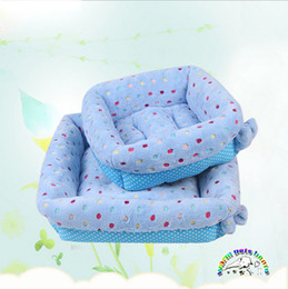 Puppies Beds Canada - Wholesale winter pet bed warmer luxury dog beds blue best beds for dogs cute puppy beds