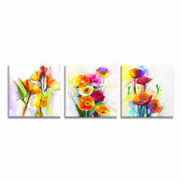 $enCountryForm.capitalKeyWord UK - Free Shipping Abstract Flower Painting Canvas Prints 3 Pieces Giclee Printing Home Wall Decoration Unframed(30cmx30cmx3)