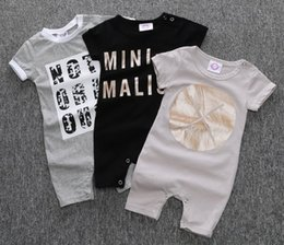 girl tight cotton short NZ - INS Summer Baby romper suit Jumpsuits Cotton short sleeve letter Printing rompers boys girls costumes Toddlers bodysuits tights sets