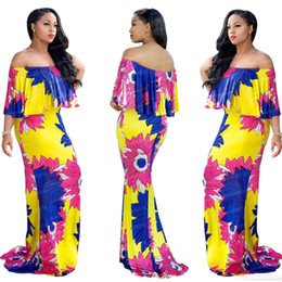 Robes Décontractées Indiennes Femmes Pas Cher-2018 Summer African Dresses for Women Printing Robe Robe Dashiki Femme Casual Vêtements Indiens Plus Size Sundress