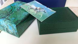 Nova marca 116610 116660 Gmt Luxo Verde Original Caixa De Madeira Caixa de Relógio Papers Carteira Cartão Caixas Casos de Esportes de Pulso relógios caixa em Promoção