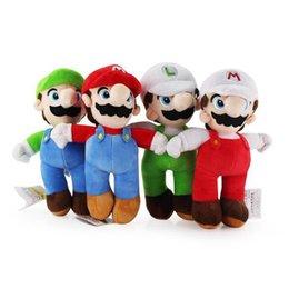 In azione 10inch 25cm Super Mario Bros stoffa MARIO LUIGI giocattolo peluche giocattolo farcito bambola giocattoli regalo 100pcs