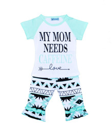 Chinese  Girls Ins Clothing Sets T-shirt Middle Pants Letters Print Fashion Suits Infant Outfits Kids Tops & Shorts 1-5T LG2017 manufacturers