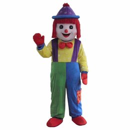 Hot Clown Comic Mascot Costume Halloween Party DressAdult Size Free Shipping on Sale