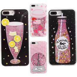 China Phone Case Liquid Moving Star Glitter Back Cover For Iphone 6 6S 7 7plus iphone 7plus protector phone cases hard 3D case GSZ350 cheap 3d moving cases for iphone suppliers