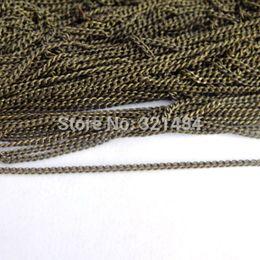 Brass Needles Australia - Vintage Antique bronze brass 100meter DIY 3mm Encryption curb Jewelry metal link chain findings