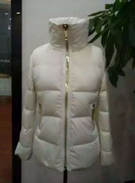 Vestes En Hiver Blanc Noir Pas Cher-Women Winter M Brand Duck Down Coat 100% Down Jacket Slim Thick Down Parkas Blanc / Rose / Noir couleurs