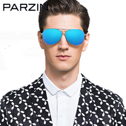 parzin glasses NZ - Parzin Polarized Sunglasses Men Sun Glasses Male Oversized Glasses For Driving Shades Oculos De Sol Masculino With Box 8009