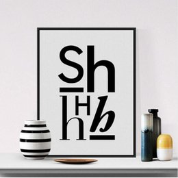 Hipster Painting NZ - Modern Minimalist Black White Alphabet Typography Quotes A4 Art Print Poster Hipster Wall Picture Canvas Painting No Frame Decor