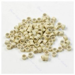 Hair crimp beads online hair crimp beads for sale wholesale lot of 100 pcs silicone micro ring feather hair extensions crimp beads beige pmusecretfo Gallery