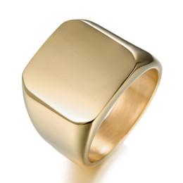 Опт Новый простой стиль площади большой ширины печатка мужские кольца Титана стальной палец Multi цвета мужчины ювелирные изделия быстро Бесплатная доставка