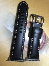 Cinturino in pelle di vitello nero cinturino in pelle di vitello Istrap 38mm 42mm per cinturino Apple iWatch