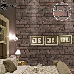 discount red brick effect wallpaper | 2017 red brick effect