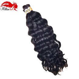 24 Inch Human Weft Braiding Hair UK - Human Hair For Micro Braids Bulk Hair No Weft Brazilian Deep Curly Wave Bulk Hair For Braiding