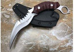 Ingrosso G10 Dragon Talons Claw Karambit tattiche di autodifesa all'aperto combattimento coltelli spedizione gratuita benvenuto per comprare regalo di natale per uomo 1 pz