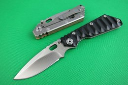 Discount wholesale self defense - 2Pcs Strider Survival Folding Knife 8Cr13 Satin Drop Point Blade G10 Handle Outdoor Camping Hiking EDC Pocket Knives Wit