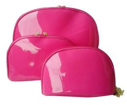 CALIENTE Mujeres copo de nieve famosa marca 3 unids / set vanidad estuche de cosméticos de lujo bolsa de organizador de maquillaje aseo bolsa de embrague