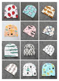 Newborn Animals Canada - 2016 Newborn Baby Beanies Hats Kids Unisex Fox Caps Cartoon Animal Warm Accessories Infant Autumn Winter Geometry Hat Headwear