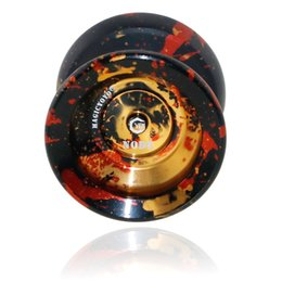 magic yoyo UK - Hot Sell Magic Professional Unresponsive Polished Alloy Yoyo Ball for Kids Deep and Mellow FL