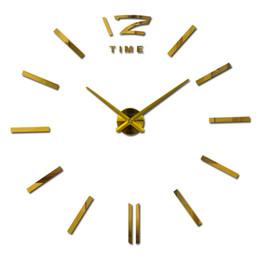 reloj pare 2019 - Wholesale-2016 New Diy 3d Acrylic Mirror Home Decoration Large Clock Clocks Reloj De Pared Watch Quartz Living Room Mode