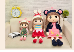 girls rag dolls Canada - 2017 Newest Hot Sale 45cm 55cm 75cm Baby Plush Cloth Ragdoll Stuffed Princess Decorative Doll Toy Girls Best Birthday Gifts Free Shiping