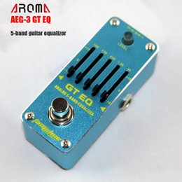 ElEctric guitar EqualizEr online shopping - Effectors AROMA AEG GT EQ band Equalizer Effect Pedal for Guitar Mini Analogue Effect True Bypass Pedal