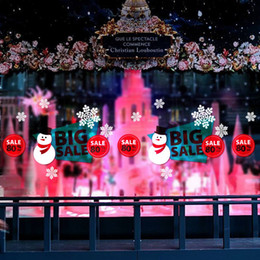 Christmas Windows Stickers Canada - Promotion Scale New Christmas Decorative Decal Window Stickers Removable DIY Glass Wall Festival Decals Murals Gift QTT59-4