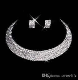 Man Made Diamonds Australia - Designer 2017 15035 Sexy Men-Made Diamond Earrings Necklace Party Prom Formal Wedding Jewelry Set Bridal Accessories Free Shipping In Stock