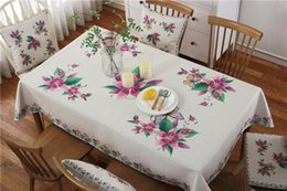 $enCountryForm.capitalKeyWord NZ - Newly High Quality Table Cloth Cover Linen Poly Tablecloth Kitchen Room Customized Size Spread Colorful Beauty Free Shipping