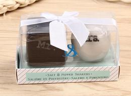 Mr tools online shopping - Ceramic Mr Mrs Salt and Pepper Shakers White Black Shaker Kitchen Tools Party Favors Wedding Favor Gift