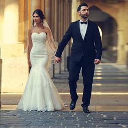 $enCountryForm.capitalKeyWord Australia - Saidmhamad Sweetheart Neckline Applique Lace Mermaid Wedding Dress Lace Up Bridal Dress robe de soiree longue vestido de novia