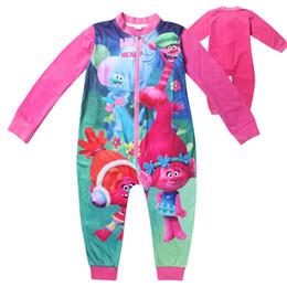 Discount pajamas for girls - Girls Trolls Pajamas Trolls Rompers for kids Sleepwear For Girls Sleepwear Spring Autumn Cartoon Kids Pajamas Free shipp