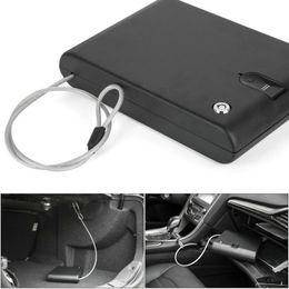 China Wholesale- FreeShipping OSPON OS120B Portable Biometric Fingerprint Gun Pistol Safe Jewelry Handgun Safe Box Security Box Hidden in Bedro cheap hide jewelry suppliers