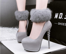 $enCountryForm.capitalKeyWord NZ - Sexy high - heeled sexy leather horses with round head waterproof table sexy nightclub professional women 's shoes