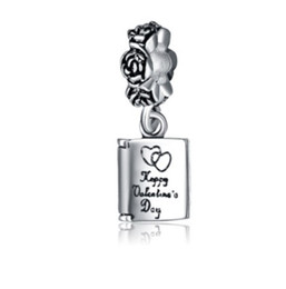 fits pandora bracelets 30pcs happy valentines day dangle silver charm beads charms for wholesale diy european necklace snake chain bracelet