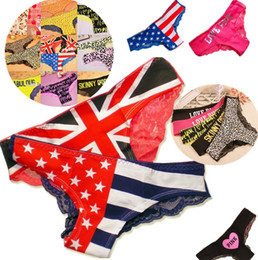 68fae5d0d Newest Fashion flag detonation model The American flag lace panties sexy  women s underwear girls panties 2764