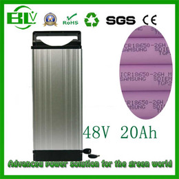 $enCountryForm.capitalKeyWord NZ - USA EURO no tax 48V 20AH Electric Bicycle Lithium Battery Rear rack battery Aluminum case E-bike Scooter battery in China wholesale