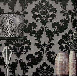 Papier peint classique de luxe de velours de papier peint de papier peint de relief non-tissé 3D de papier peint de salon pour la décoration de mur à la maison en Solde