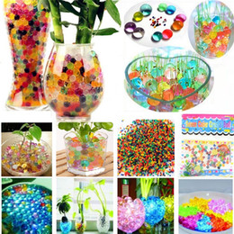 Magic jelly balls online shopping - New beautiful Pearls Crystal Water beads ball Flower Plant Crystal Soil Gel Jelly Party Wedding Décor magic Jelly Water beads GC65