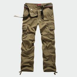 Vente en gros 30-44 Plus taille pantalon cargo hommes tactiques occasionnels hommes pantalons lâches multi poche armée globale pour hommes pantalons longs militaires vêtements