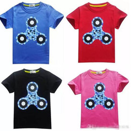 clothes spinner NZ - Boys Girls Summer Clothing Short Sleeve Cotton Tops 2017 New Triangle Hand Spinner Printting Children T-shirts Kids Cartoon Tees A 080