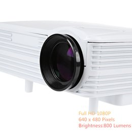 Wholesale H80 Projector P Pixels Lumens Full HD Projector Video Home Theater Projection Mini LED Proyector for Sony PS4 Xbox TV