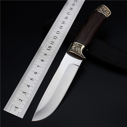 Free Edc Tools Canada - 2018 New Free Shipping Outdoor Fixed Tactical Combat Straight Knife Self-defense Wild Wilderness Survival Camping Hunting Knives EDC Tools