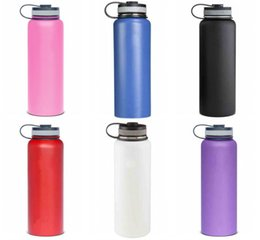 Bicycling Gear NZ - 32oz Vacuum Insulated Stainless Steel Water Bottle Wide Mouth Cap Sports Hydration Gear Cup travel water bottles Free Ship