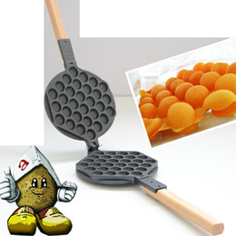 Wholesale- Stove Top Nonstick Hongkong Egg Puff Iron Eggettes Egg Waffle Pan Wafer Egg Makers cheap waffle iron pan from waffle iron pan suppliers