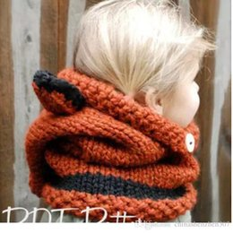 $enCountryForm.capitalKeyWord Canada - 2016 Fox Baby Hats Autumn Winter Caps Kids Girls Boys Warm Woolen Knitted Coif Hood Scarf Beanies toddler christmas gifts 2-10 years old