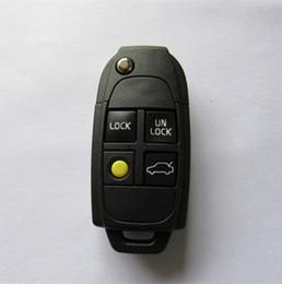 $enCountryForm.capitalKeyWord NZ - High quality Flip Folding 4 button remote keye case Fob Car key shell for Volvo S40 V40 S60 C70 S80