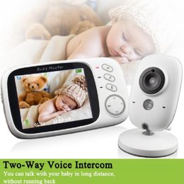 Discount power touch remote - Wholesale- Radio babysitter video nanny IR Night vision Intercom Lullabies Temperature monitor 3.2 inch radio babysitter